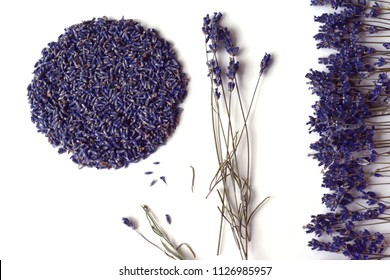 Lavender. Still life with dried lavender flowers.