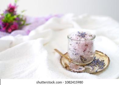 Lavender Sugar Scrub Body Spa Treatment  with Focus Selection