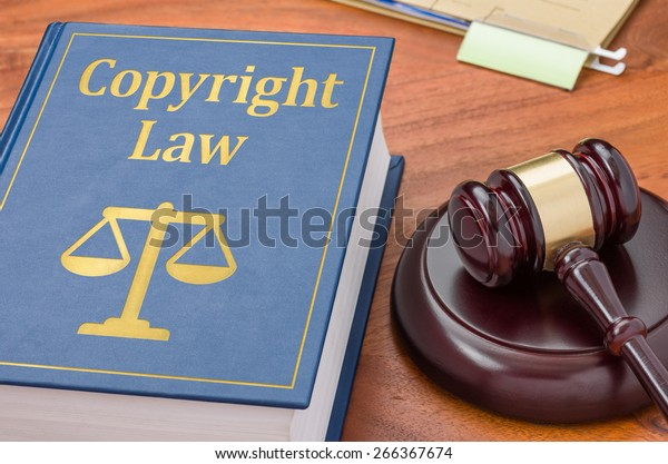 A law book with a gavel - Copyright law