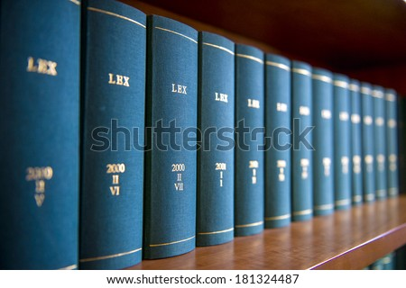 Law Books In Al Offices Bookshelf