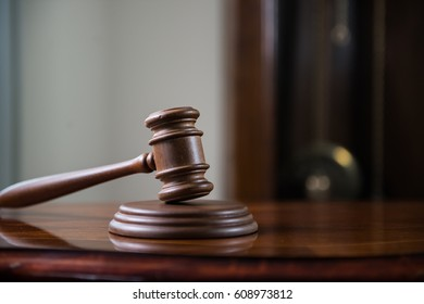 law and justice concept mallet of judge wooden gavel ez canvas