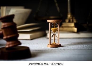 Law Concept. Hammer of Judge. Dark Background
