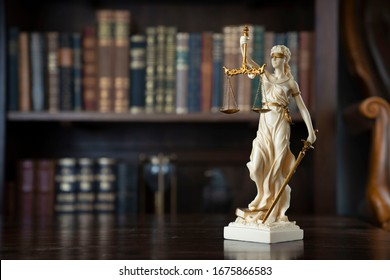 Law and justice. Bokeh background.