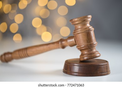 Law and Justice. Bokeh background