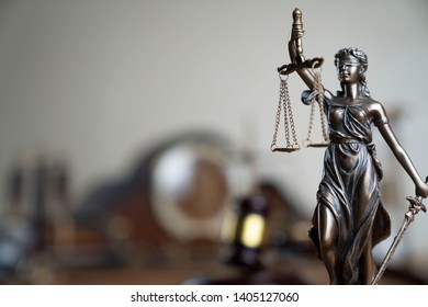Law and Justice concept. Bokeh background.
