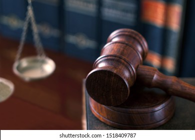 law and justice concept gavel and scale
