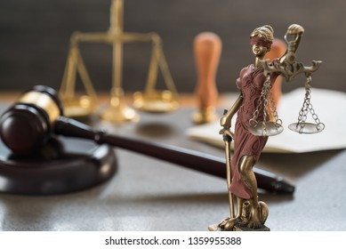 Law and Justice Concept Image, Grey stone background