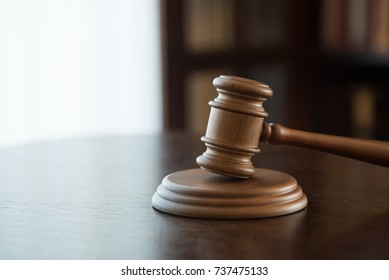 Law and Justice concept, mallet of judge, wooden gavel