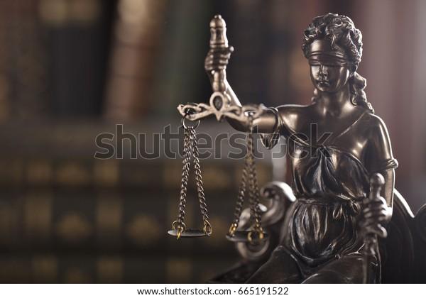 Law. Justice. Copy space.