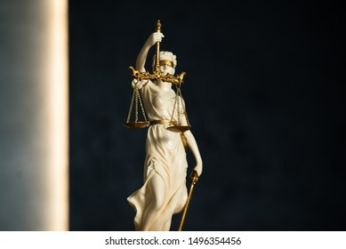 GREEK GODDESS THEMIS SCALES of JUSTICE SCULPTURE BLIND STATUE Lawyer Judge Art