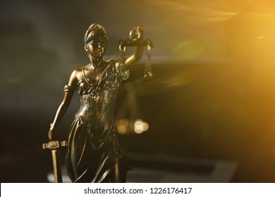 Law. Justitie is a personification of justica