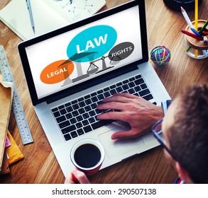 Law Legal Rights Judge Judgement Punishment Judicial Concept