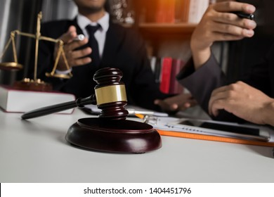 Law and Legal services concept, Good service cooperation, lawyer or judge consult having team meeting in office.