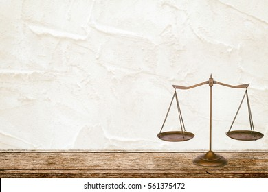 Law Scale on table.vintage