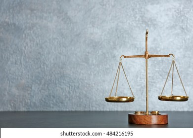 Law scales on a table