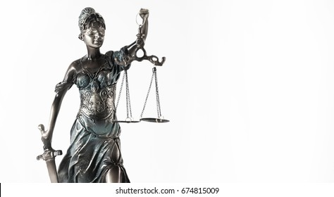 Law Symbols on white background