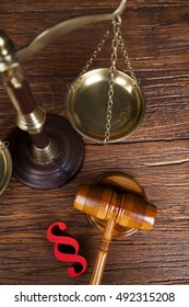 Law Wooden Gavel Barrister Justice Concept Legal System