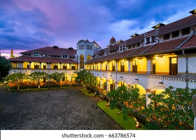 """""""Lawang Sewu"""" a historical Building in Semarang, Central Java, Indonesia. Built during Colonial Era. Date taken March 3, 2017"""