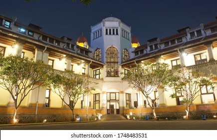 """""""Lawang Sewu"""" a historical iconic Building in Semarang, Central Java, Indonesia. Built during Colonial Era August, 2019"""