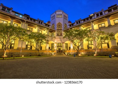 """Lawang Sewu (""""Thousand Doors"""") is a landmark in Semarang, Central Java, Indonesia, built as the headquarters of the Dutch East Indies Railway Company. 02 11 2018"""