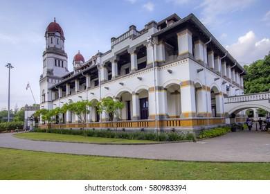 "Lawang Sewu (""Thousand Doors"") is a landmark in Semarang, Central Java, Indonesia, built as the headquarters of the Dutch East Indies Railway Company. 22 November 2013"