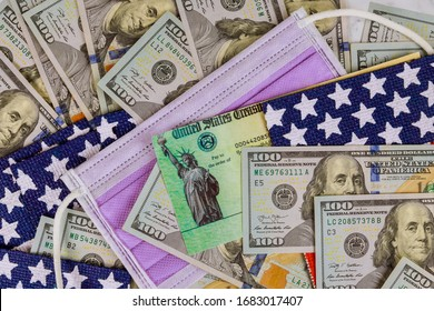 Lawmakers in the finishing touches on a stimulus refund check bill federal government protective mask coronavirus covid 19 infected pandemic lockdown