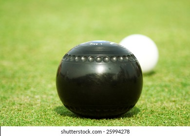 Lawn Bowls isolated ball