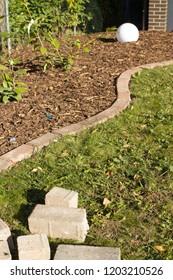 lawn edge in the garden