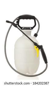 Lawn and garden pressure sprayer for dispensing fertilizer, pesticide or herbicide.