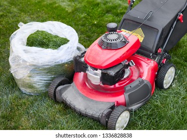 lawn mover on grass