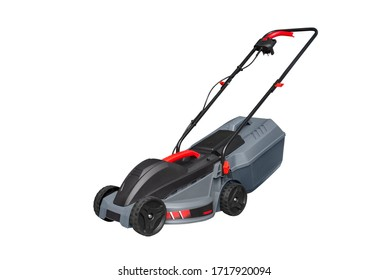 Lawn mower isolated on white background. Lawn mower.