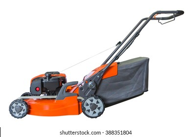 lawn mower isolated on a white background