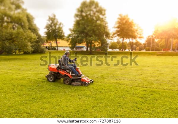 tractor de cortadora de césped