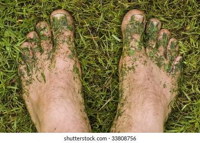 Lawn mower's feet