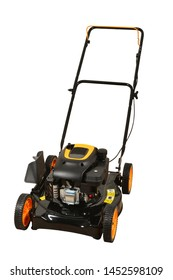 Lawnmower in black and orange colour made for your garden
