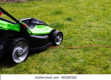 Lawnmower runs over power lines cut comfortably