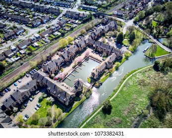 Lawrence Moorings - housing development next to River Stort Canal in Sawbridgeworth, Essex - near Harlow