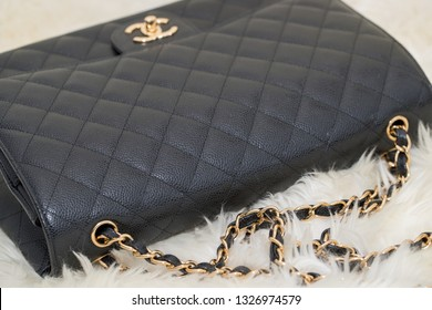 9f155a7b087c Lawrence Township New Jersey, March 1, 2019:Photo of black Chanel handbag  brand