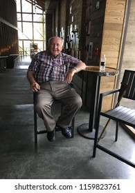 Lawrenceburg, KY / USA - August 2018: Jimmy Russell, master distiller, oversees all bourbon-making at the Wild Turkey distillery.