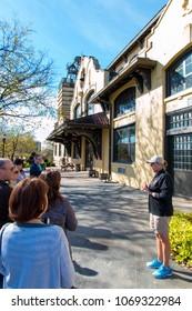 Lawrenceburg, KY, USA - November 6, 2016 : Tour at historic Four Roses Bourbon Distillery on Kentucky Bourbon Trail.