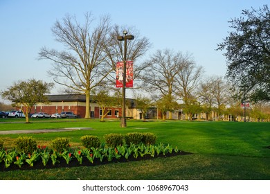 LAWRENCEVILLE, NJ -14 APR 2018- View of the campus of Rider University, a private college located in Lawrenceville, Lawrence Township in Mercer County, New Jersey.