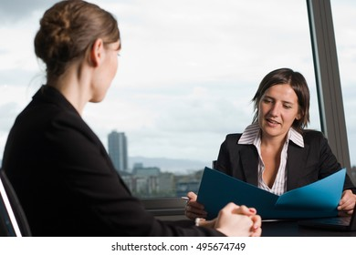Lawyer consultation in an sky office