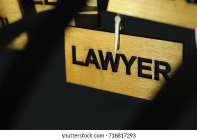 LAWYER on a wooden sign, photograph Aspirations word