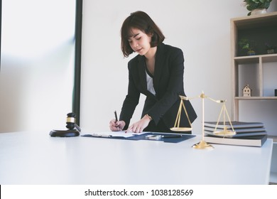 The lawyer is prepared to work at the office.