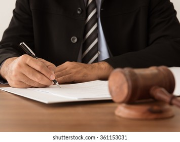 lawyer working at courtroom. legislate concept.