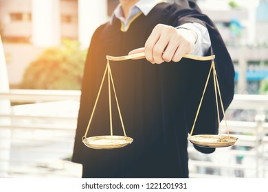Lawyers Hold Scales,justice Process and Law, legal justice and public lawyers is well-prepared to assist people who are suffering from a lawsuit.
