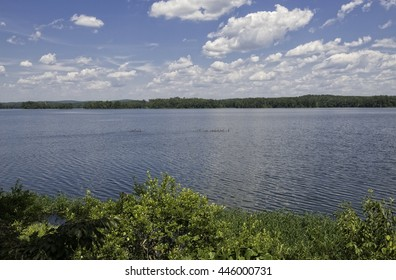 Lay Lake on a sunny summer Day.