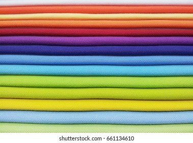 Layer of colorful fabric