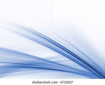 Layered, soft lines and texture (computer generated, fractal abstract background)
