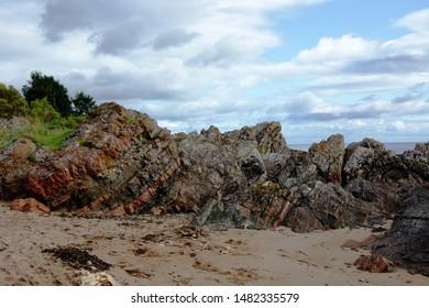 Layering and Tilting at Rosemarkie Beach